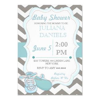 Baby Boy Bootie Baby Shower Invitations