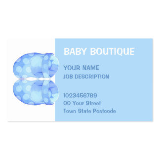 Baby Boy Booties Business Card