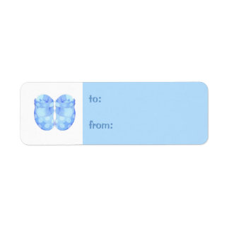 Baby Boy Booties small Gift Tag Label Return Address Label
