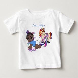 Baby Boy Bubbles & Unicorns Baby T-Shirt
