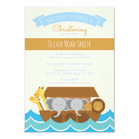 Baby Boy Christening/Baptism Invitation