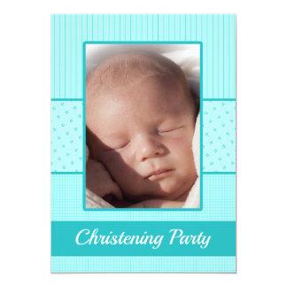 Baby Boy Christening Party Invitation