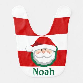 Baby BOY Christmas SANTA Bib