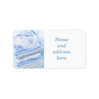 Baby boy clothes address label