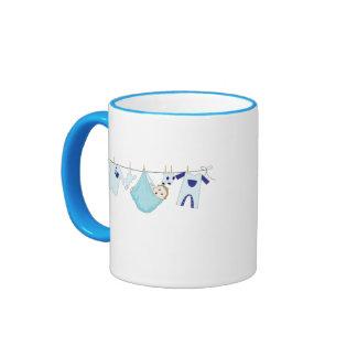 Baby Boy Clothes Line Coffee Mugs