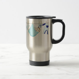 Baby Boy Clothes Line Coffee Mug