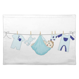 Baby Boy Clothes Line Placemat