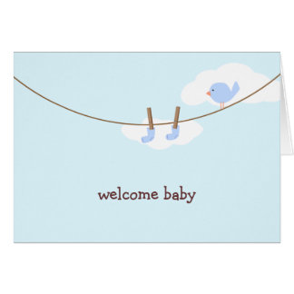 Baby Boy Clothesline Card