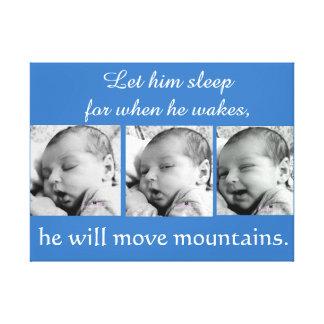 Baby Boy collage, 3 photos Canvas Print
