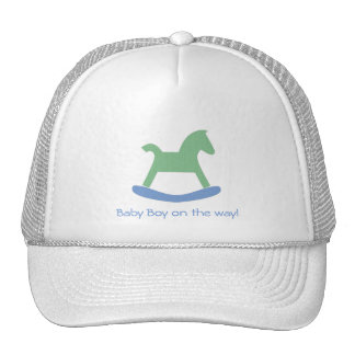 Baby Boy Collection Baby Boy On the Way Cap Trucker Hat