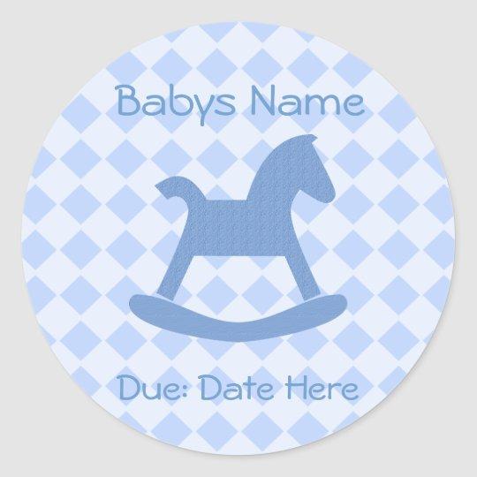 Baby Boy Collection Classic Round Sticker
