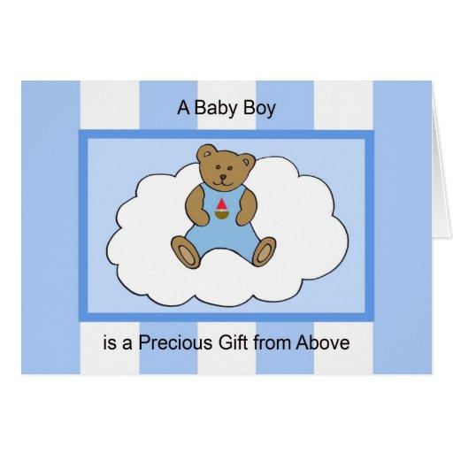 Baby Boy Congratulations Card -- Precious Gift