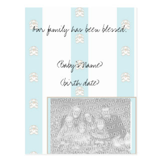 Baby Boy Custom Birth Announcement Post Cards