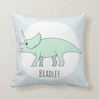 Baby Boy Doodle Dinosaur with Name Nursery Cushion