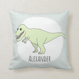 Baby Boy Doodle T-Rex Dinosaur with Name Nursery Cushion