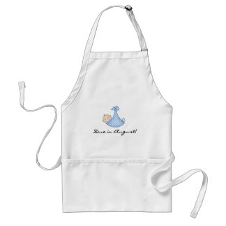 Baby Boy Due in August Adult Apron