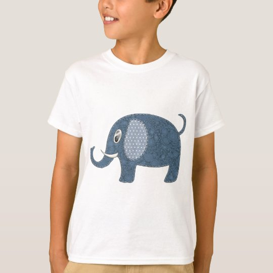 Baby Boy Elephant Applique T-Shirt