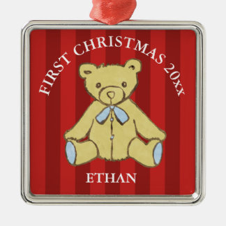 Baby Boy First Christmas Add Name and Year Christmas Ornament