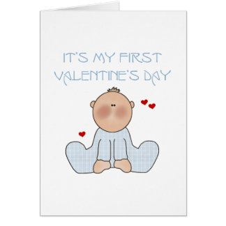 Baby Boy First Valentine's Day Card