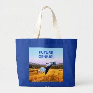 Baby boy future genius jumbo tote bag