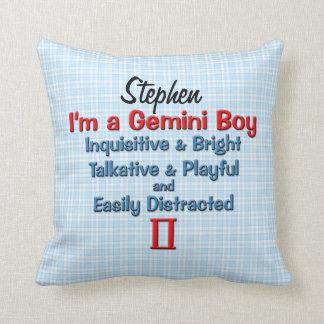 Baby Boy Gemini Zodiac Personalized Pillow