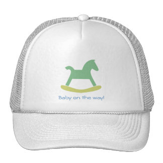 Baby Boy Green and Yellow Rocking Horse Cap Trucker Hat