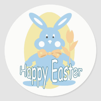 Baby Boy Happy Easter Bunny Sticker