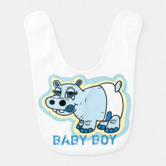 Baby boy hippo bib
