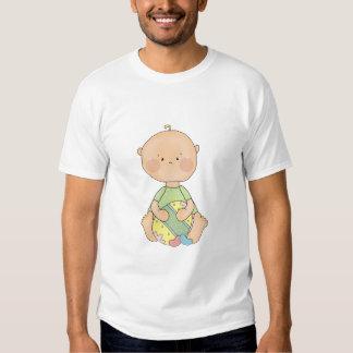 baby boy holding easter egg tshirt