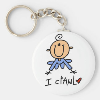 Baby Boy I Crawl Tshirts and Gifts Basic Round Button Key Ring