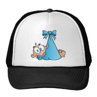 Baby Boy In Bundle Hats