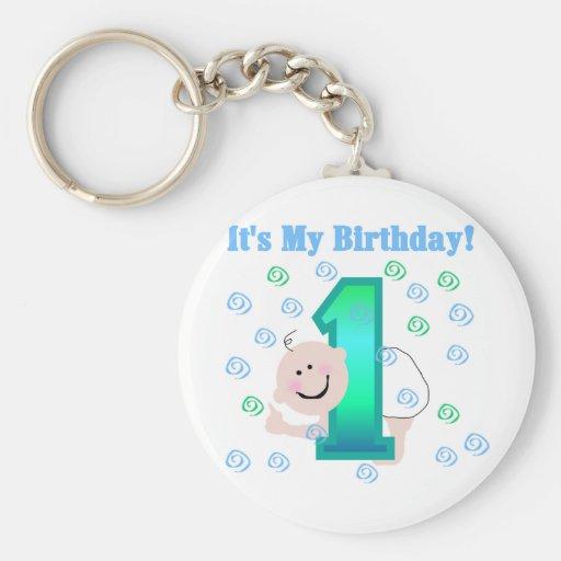 Baby Boy It's My 1st Birthday Keychain