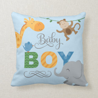 Baby Boy | Jungle Animals Cushion
