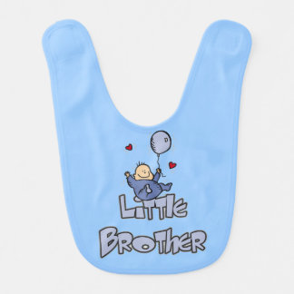 Baby Boy Little Brother Bib