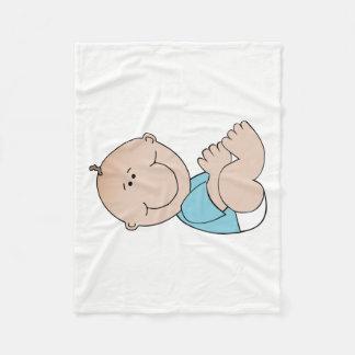 Baby Boy Lying Fleece Blanket