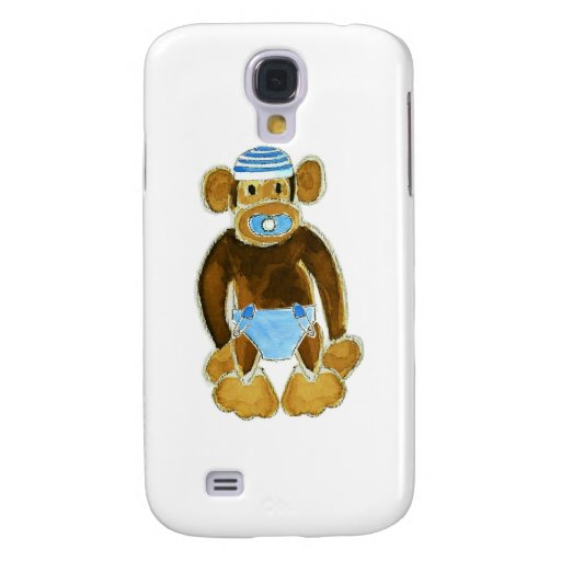 Baby Boy Monkey Diaper Galaxy S4 Cover