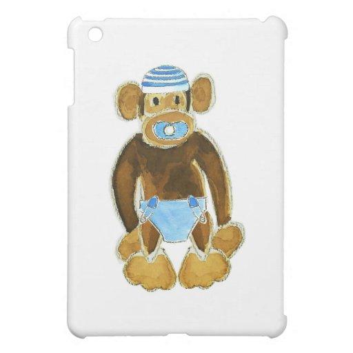 Baby Boy Monkey Diaper iPad Mini Cases