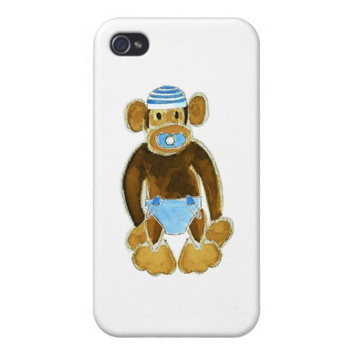 Baby Boy Monkey Diaper iPhone 4 Case