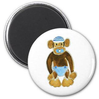 Baby Boy Monkey Diaper Refrigerator Magnet