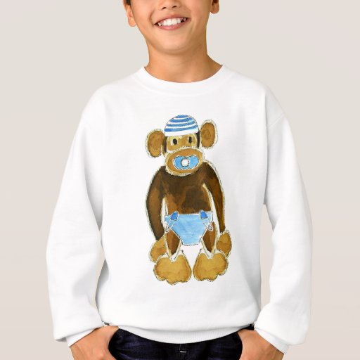 Baby Boy Monkey Diaper Sweatshirt