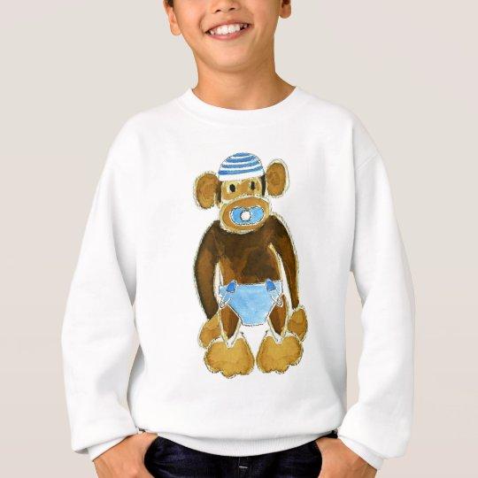Baby Boy Monkey Diaper Sweatshirt