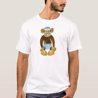 Baby Boy Monkey Diaper T-Shirt