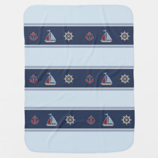 Baby Boy Nautical Baby Blanket