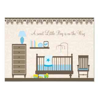 Baby Boy Nursery Shower : Invitation