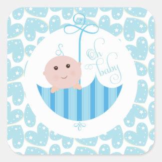 Baby Boy Oh Baby Shower umberella Sticker