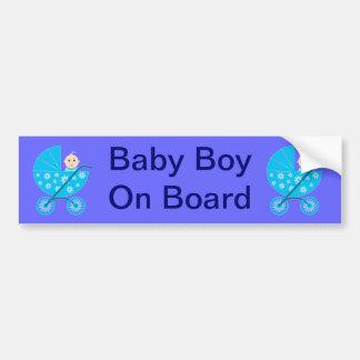 Baby Boy On Board Bumper Sticker