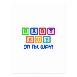 BABY BOY ON THE WAY POSTCARD
