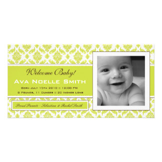 Baby Boy or Girl Birth Announcement Photo Card
