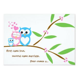 Baby Boy Owl Baby Shower Invitation