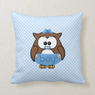 baby boy owl cushion